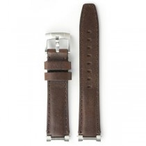 Everest Brown Leather Replacement Strap for Rolex