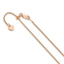 Leslie Sterling Silver 1.2 Mm Rose Gold-Plated Adjustable Wheat C