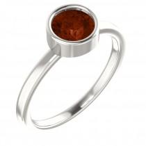 Sterling Silver Imitation Garnet Ring