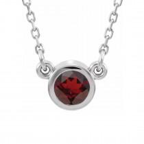Imitation Garnet Ring / Sterling Silver