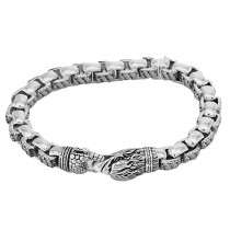 EFFY Men's Sterling Silver Bracelet with Eagle Clasp