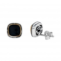 EFFY Ladies Onyx Earrings / Silver & 18 Kt.