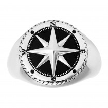 Gents 2.500 Ctw Onyx Ring / Silver