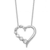 Ladies Cubic Zirconia Pendant / Silver