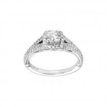 .500 Ct. / 1.000 Ctw Round Cut Diamond Engagement Ring / I1