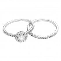 Ladies .880 Ctw Diamond Wedding Set / 14 Kt W