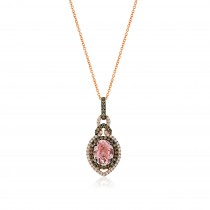 Ladies .470 Ctw Miscellaneous Pendant / Rose Gold 14 Kt.