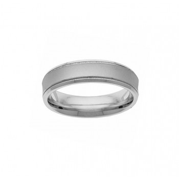 Sterling Silver 6mm Mens Wedding Band