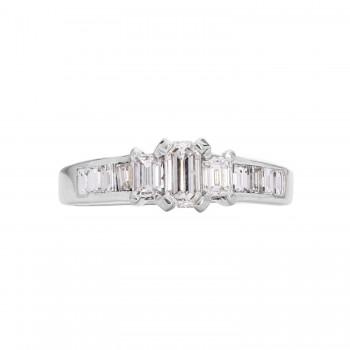 14kt White Gold 1.00ctw Diamond 3-Stone Ring