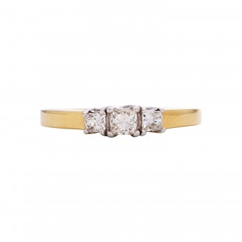 Ladies .500 Ctw Round Cut Diamond Ring / 14 Kt Y