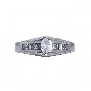 Ladies .580 Ctw Marquise Cut Diamond Ring / Platinum