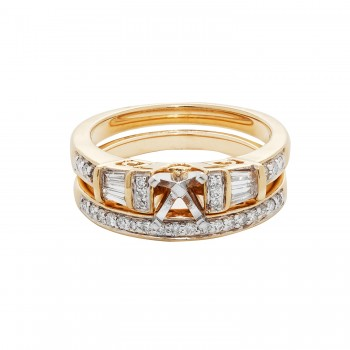 Ladies .500 Ctw Diamond Semi-mount / 14 Kt Y