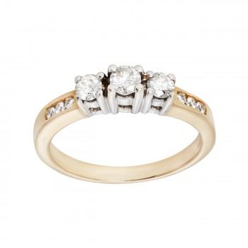 Ladies .500 Ctw Round Cut Diamond Ring / 14 Kt W