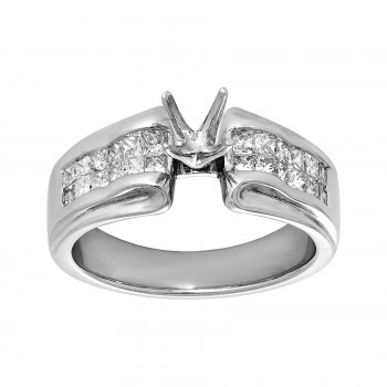 Ladies .600 Ctw Diamond Semi-mount / 14 Kt W