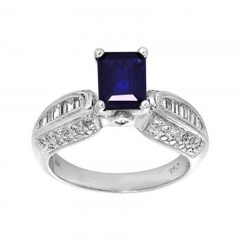 18kw sapphire and diamond ring