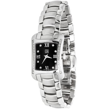 ESQ Movado Women's Stainless Steel Watch with Diamond Accents