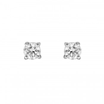 Ladies .300 Ctw Diamond Stud Earrings / 14 Kt W