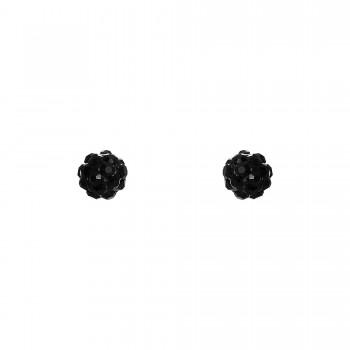Inox Black Crystal Studs