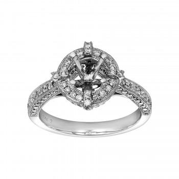 Ladies .800 Ctw Diamond Semi-mount / 14 Kt W