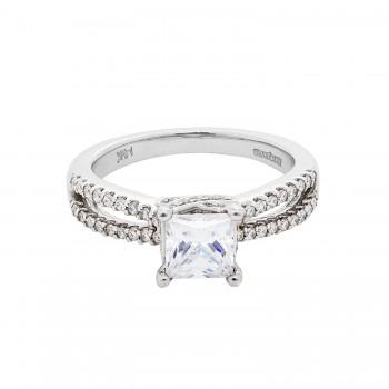 Ladies .330 Ctw Diamond Semi-mount / 14 Kt W
