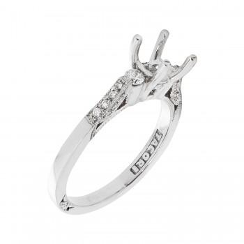 Tacori Brand 18k White Gold .20ctw Diamond Semi-Mount