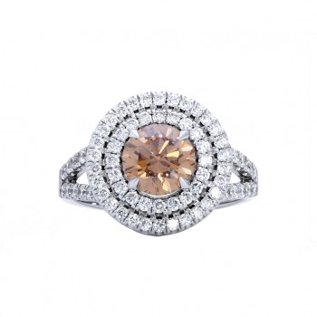 Ladies Diamond Ring / 18 Kt W