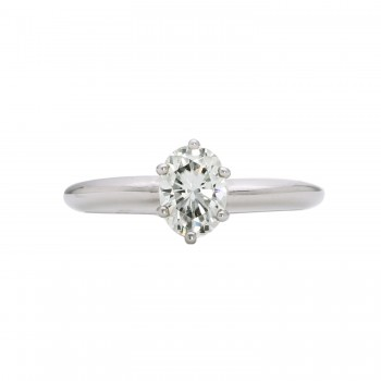 7x5 Oval Moissanite in 14kw Mounting 3/4carat