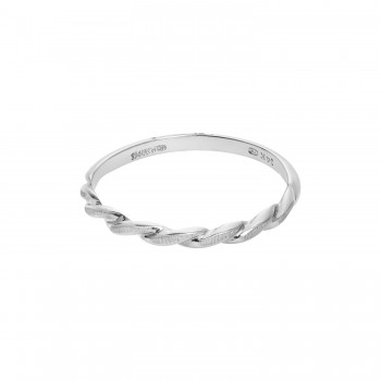 14k White Gold Twist Band