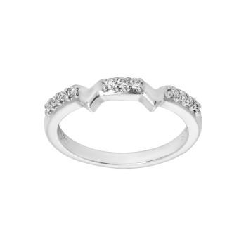 Ladies .110 Ctw Diamond Ring / 14 Kt W