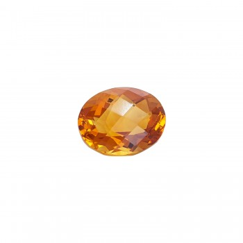 Oval Checkerboard Cut Citrine