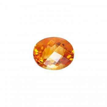 Oval 4.59ct Checkerboard Cut Citrine