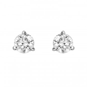 Ladies 1.020 Ctw Diamond Earrings / 18 Kt W