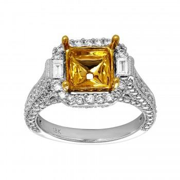 Ladies 1.330 Ctw Diamond Semi-mount / 18 Kt W