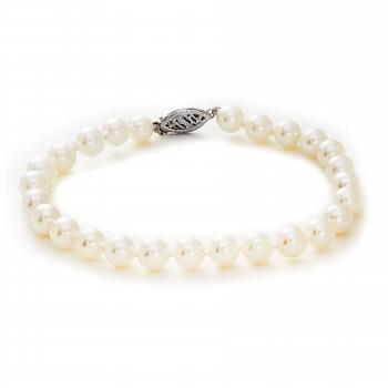 Ladies Pearl Bracelet / 14 Kt W