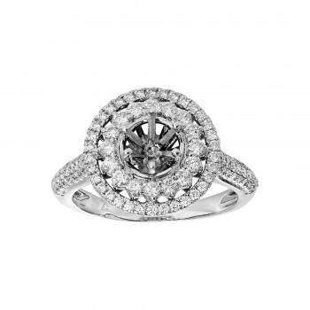 Ladies .750 Ctw Diamond Semi-mount / 18 Kt W
