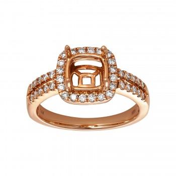 Ladies .500 Ctw Diamond Semi-mount / Rose Gold