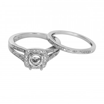 Ladies .500 Ctw Diamond Semi-mount / 14 Kt W