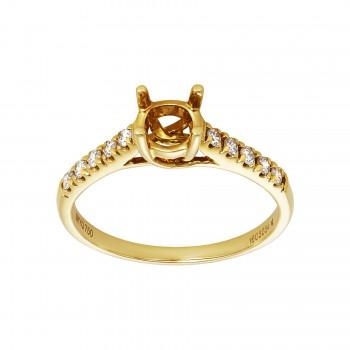 Ladies .220 Ctw Diamond Ring / 18 Kt Y