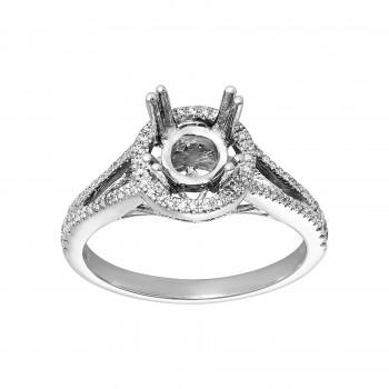 Ladies .200 Ctw Diamond Semi-mount / 14 Kt W