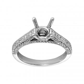 Ladies .440 Ctw Diamond Semi-mount / 14 Kt W