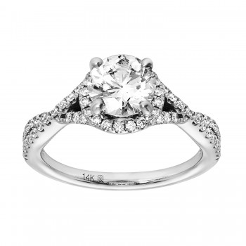Ladies 1.820 Ctw Diamond Ring / 14 Kt W
