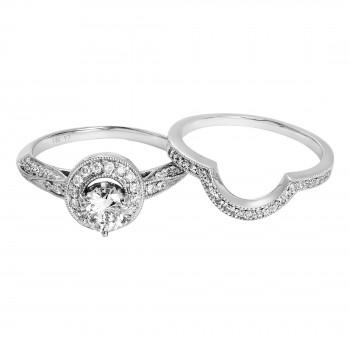 Ladies Diamond Ring / 14 Kt W