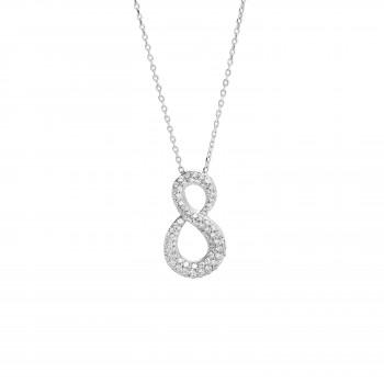 Ladies .440 Ctw Diamond Pendant / 18 Kt W