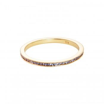 Ladies .360 Ctw Sapphire Ring / 18 Kt Y