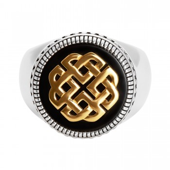 Gents Onyx Ring / Silver