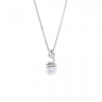 Custom Made Sterling Silver Pearl Pendant