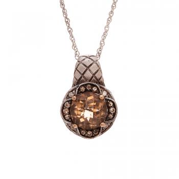Ladies Quartz Pendant / Silver