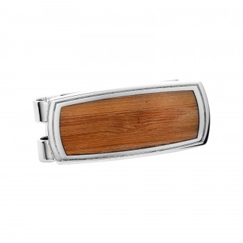 Bamboo & Stainless Steel Money Clip