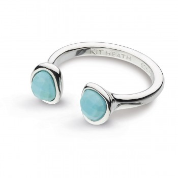 Ladies Turquoise Fashion Ring / Silver