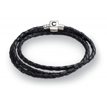 Chamilia Black leather bracelet